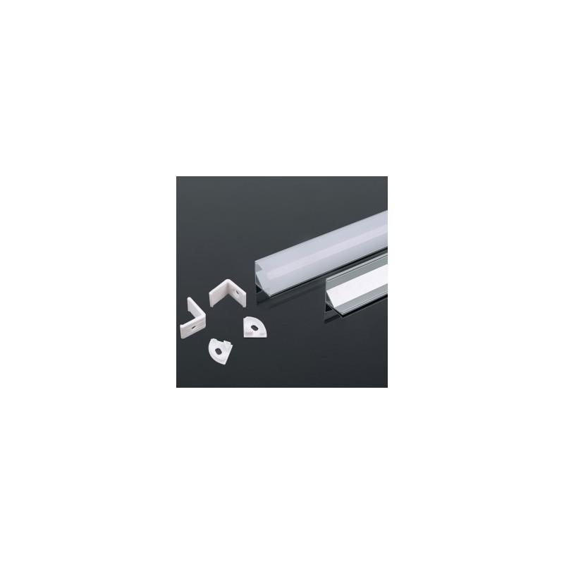 LED juostos profilis V-TAC, aliuminis, 2000x15.8x15.8mm, baltos spalvos.