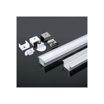 LED juostos profilis V-TAC, aliuminis, 2000x24.5x12.2mm, baltos spalvos.