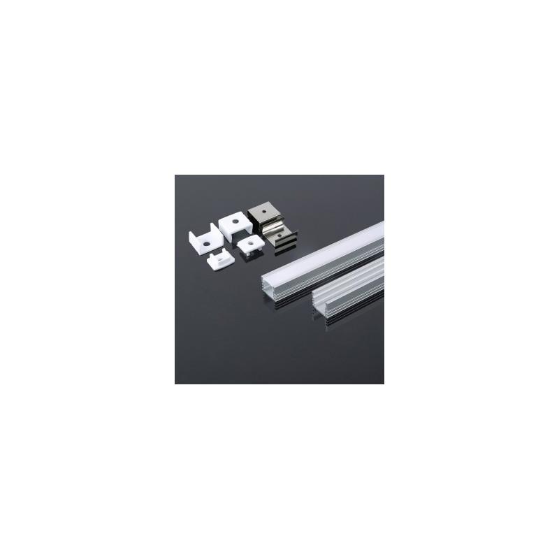 LED juostos profilis V-TAC, aliuminis, 2000x17.4x12.1mm, baltos spalvos.