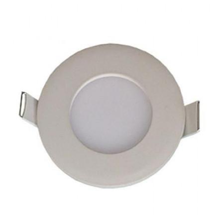 3W LED įmontuojama panelė HOROZ, apvali, su maitinimo šaltiniu, (2700K) šiltai balta