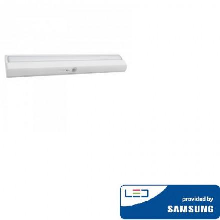 1,5W šviestuvas V-TAC, baltas, su  judesio davikliu, 4000K(natūraliai balta), SAMSUNG LED chip
