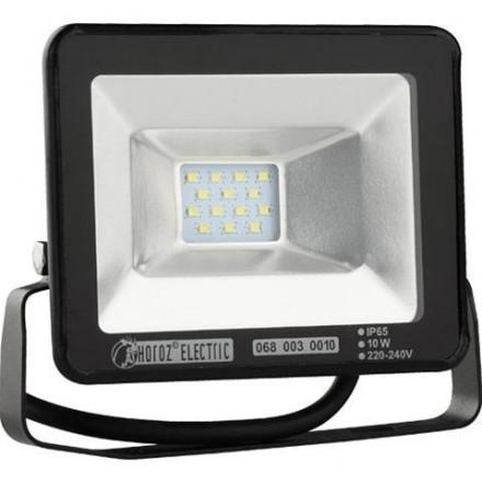 10W LED prožektorius HOROZ, SMD LED, juodas, 2700K(šiltai balta)