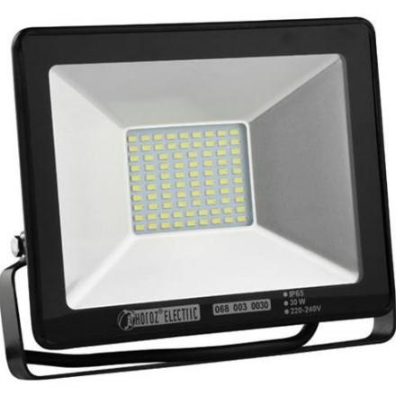 30W LED prožektorius HOROZ, SMD LED, juodas, 2700K (šiltai balta)