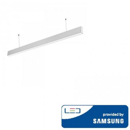 40W LED pakabinamas linijinis šviestuvas V-TAC, sidabrinis, 4000K (natūraliai balta), SAMSUNG LED chip
