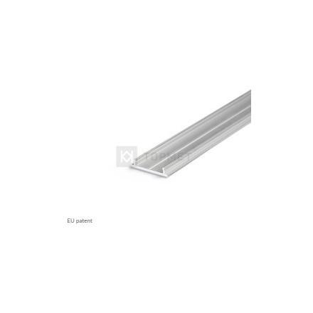 1m LED juostos profilio FIX12, 18mm pločio, neanoduotas aliuminis (1 metro štanga)