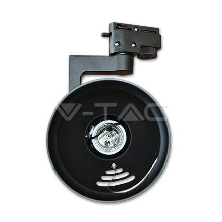 PAR30 lemputės laikiklis V-TAC, juodas, montuojamas ant bėgelio, 2 šerdžių