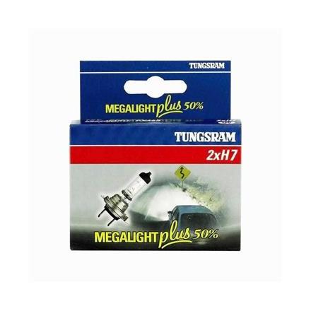 Lemputės 12V H7 55W +50 MEGALIGHT PX26D