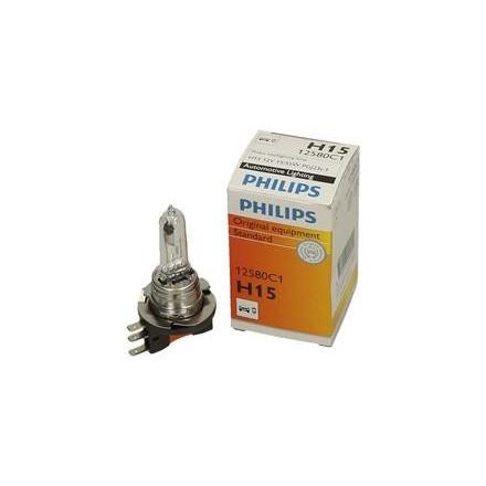 Lemputė 12V H15 15/55W PGJ23T-1 PHILIPS