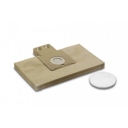 Popieriniai filtrų maišeliai RC 3000, 5vnt., Kärcher