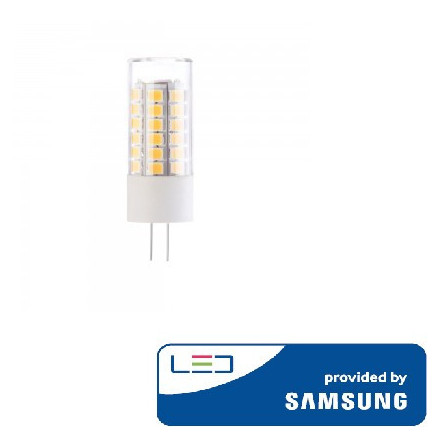 3,5W LED lemputė V-TAC, 12V, G4, 3000K (šiltai balta), SAMSUNG LED chip