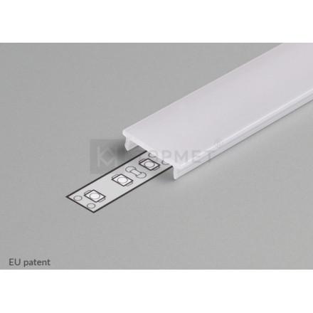3m LED juostos profilio dangtelis F (baltas) KLIK