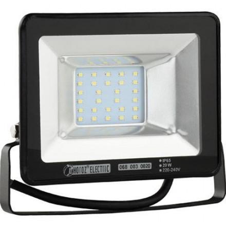 20W LED prožektorius HOROZ, SMD LED, juodas, 2700K (šiltai balta)