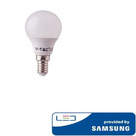 7W LED lemputė V-TAC, E14, P45 , 4000K (natūraliai balta), SAMSUNG LED chip