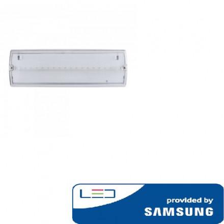 4W evakuacinis šviestuvas V-TAC, IP65, 6000K (šaltai balta), SAMSUNG LED chip