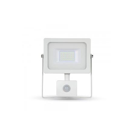 20W LED Prožektorius V-TAC su jutikliu (SMD LED) 3000K (šiltai balta), baltas