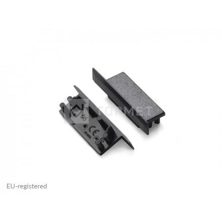 LED juostos profilio VARIO30-06 užbaigimo elementas, juodas.