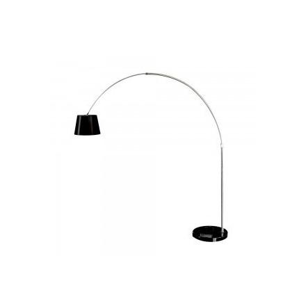 Pastatomas LED lemputės E27 šviestuvas, su marmuriniu pagrindu, juodas.