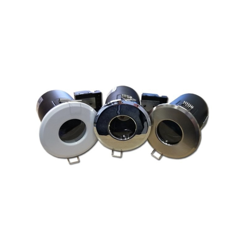 GU10 lemputės rėmelis, įleidžiamas, IP65, chromas
