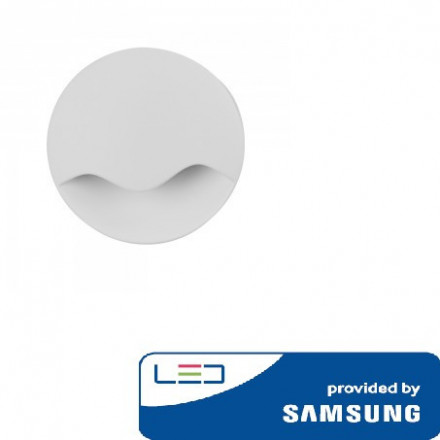 0.5W naktinis šviestuvas V-TAC, 4000K (natūraliai balta), apvalus, SAMSUNG LED chip