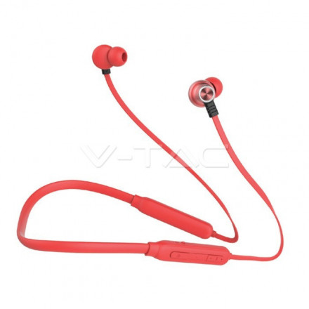 Bluetooth ausinės, 500mAh, raudonos.