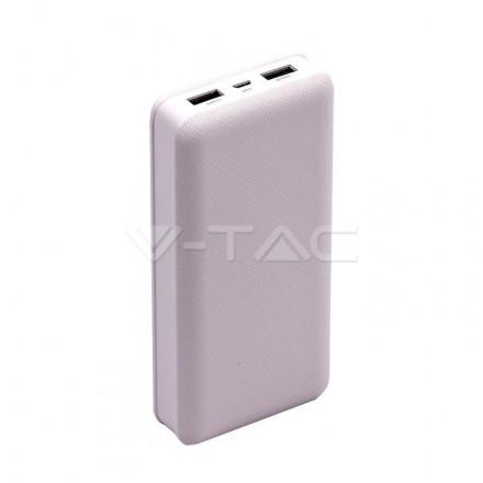 Išorinė baterija (power bank) V-TAC, baltas, 20000mAh
