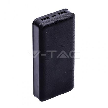 Išorinė baterija (power bank) V-TAC, juodas, 20000mAh