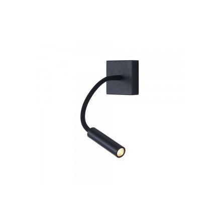 3W sieninis šviestuvas V-TAC, juodas, 3000K (šiltai balta)