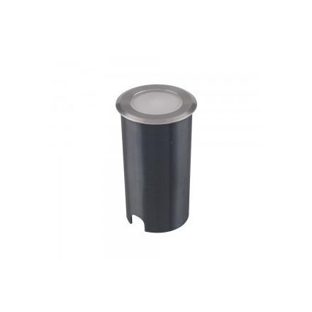 1W įmontuojamas grindinio šviestuvas STEP LIGHT V-TAC, apvalus, sidabrinis, 6500K (šaltai balta)