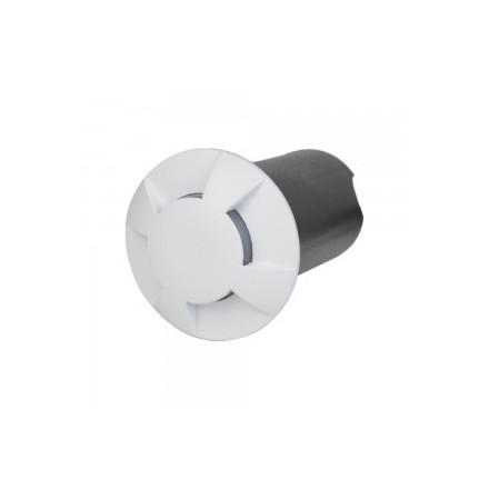 1W įmontuojamas grindinio šviestuvas STEP LIGHT V-TAC, apvalus, baltas, 3000K (šiltai balta)