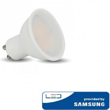 10W LED lemputė V-TAC, GU10, šviesos kampas 110°, 3000K(šiltai balta), SAMSUNG LED chip