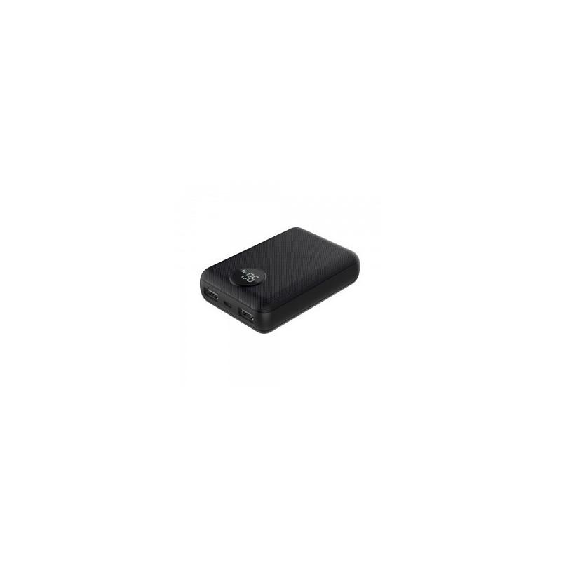 Išorinė baterija (power bank) V-TAC, juodas, 10000mAh