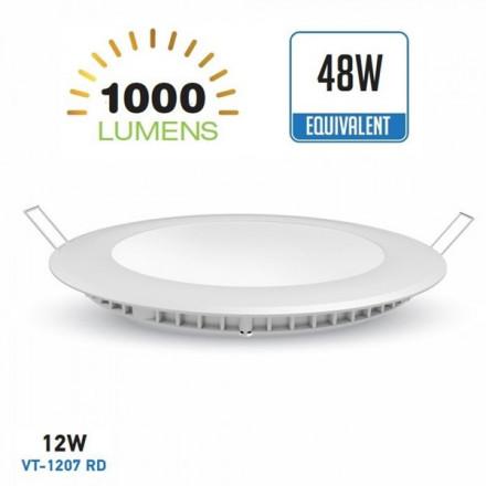 12W LED įmontuojama panelė,...