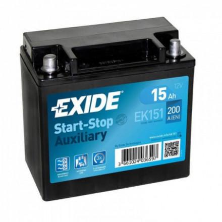 EXIDE Akumuliatorius 15 Ah 200 A EN 12V AGM EK151