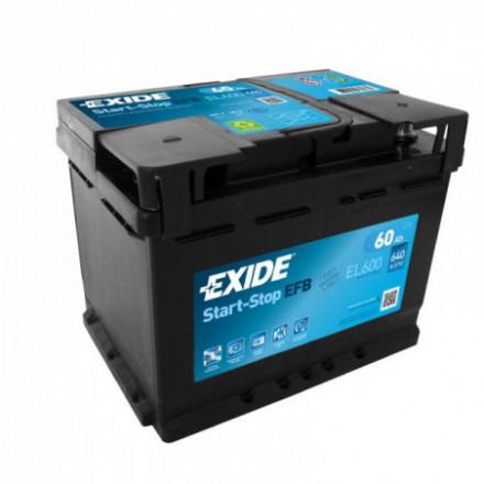 EXIDE Akumuliatorius 60 Ah 640 A EN 12V EL600