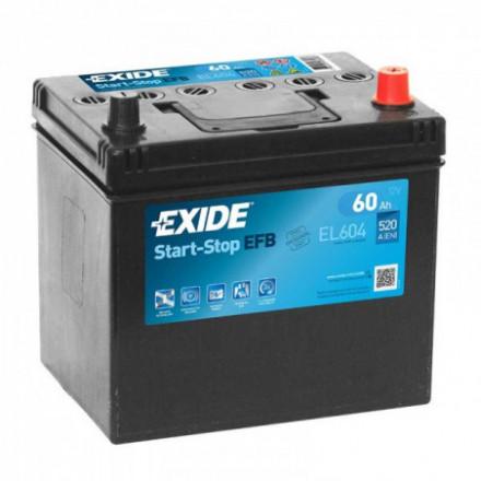 EXIDE Akumuliatorius 60 Ah 520 A EN 12V EL604