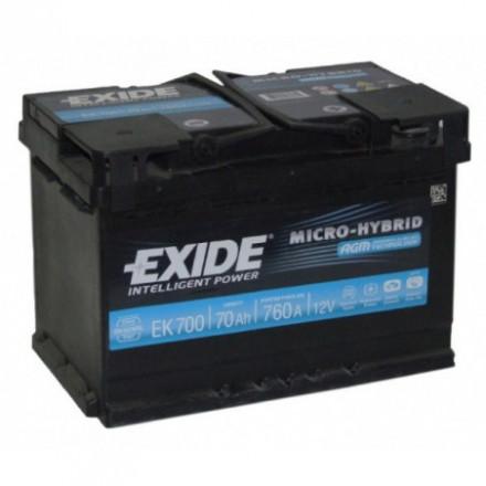 EXIDE Akumuliatorius 70 Ah 760 A EN 12V AGM AGM 700 (EK700)
