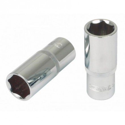 "Galvutė  šešiakampė ilga  1/2"" 14mm CHROME+ KS tools"
