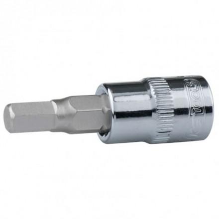 "Antgalis galvutė 1/4""  4mm CHROME+ KS tools"