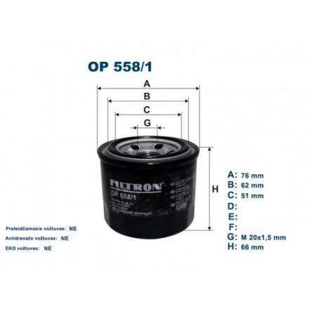 FILTRON Tepalo filtras OP558/1
