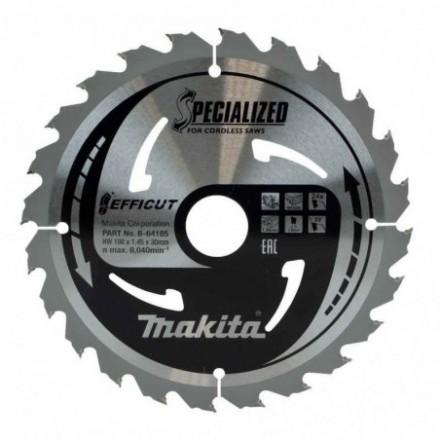 Medžio pjovimo diskas MAKITA Efficut 190x30x1,45mm 24T 23°