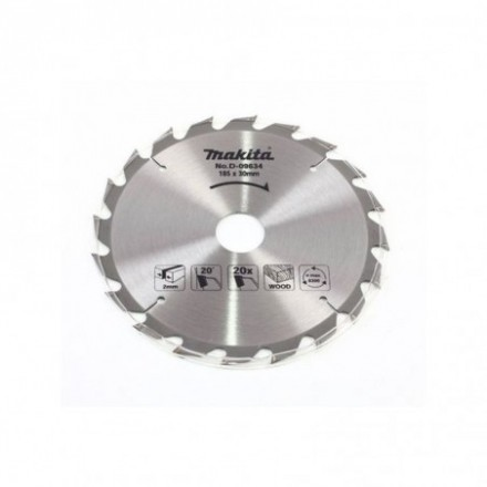 Pjovimo diskas medžiui MAKITA 185x30/20/16x2,0mm 20T