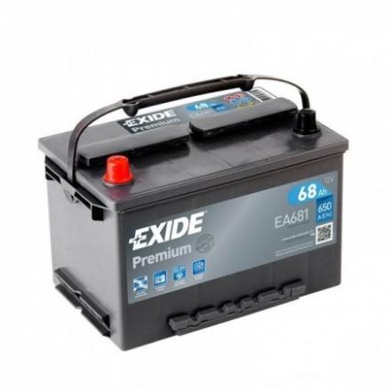 EXIDE Akumuliatorius 68 Ah 650 A EN 12V EA681