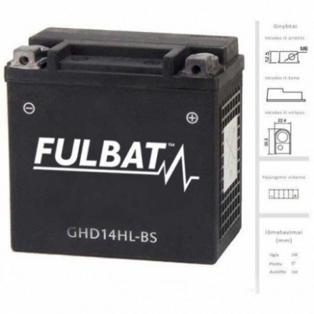 FULBAT  Akumuliatorius 14 Ah 12V GHD14HL-BS