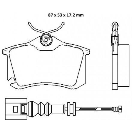 MINTEX  Stabdžių trinkelių komplektas MDB2566