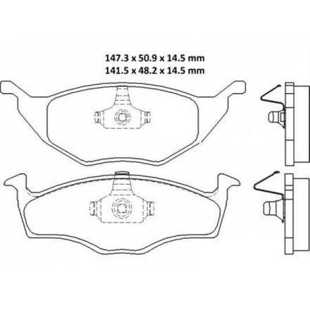 MINTEX  Stabdžių trinkelių komplektas MDB2057