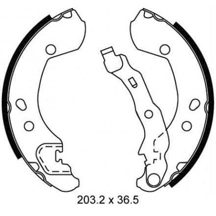 MINTEX  Būgninių stabdžių trinkelių komplektas MFR535