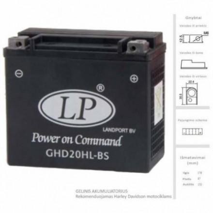 LANDPORT  Akumuliatorius 19 Ah 12V GHD20HL-BS