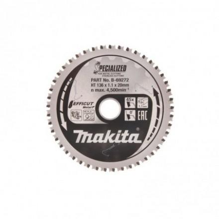 Pjovimo diskas metalui MAKITA Efficut 136x20x1,1mm Z45