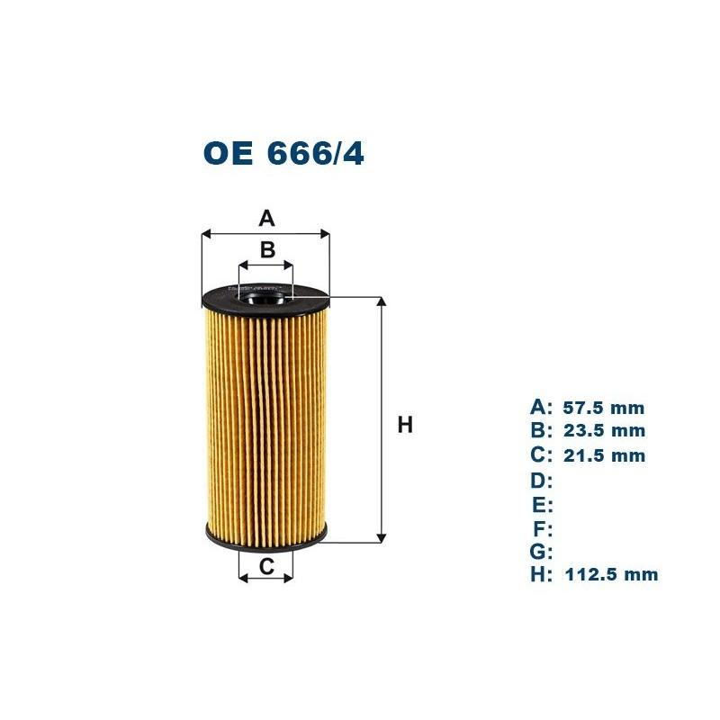 FILTRON Tepalo filtras OE666/4