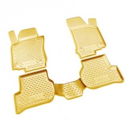 Guminiai kilimėliai 3D VW Golf VI 2009-2012, 4 pcs. /L65024B /beige